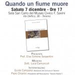 """Presentazione del libro """"Quando un fiume muore"""" di Enzo Delle Monache"""